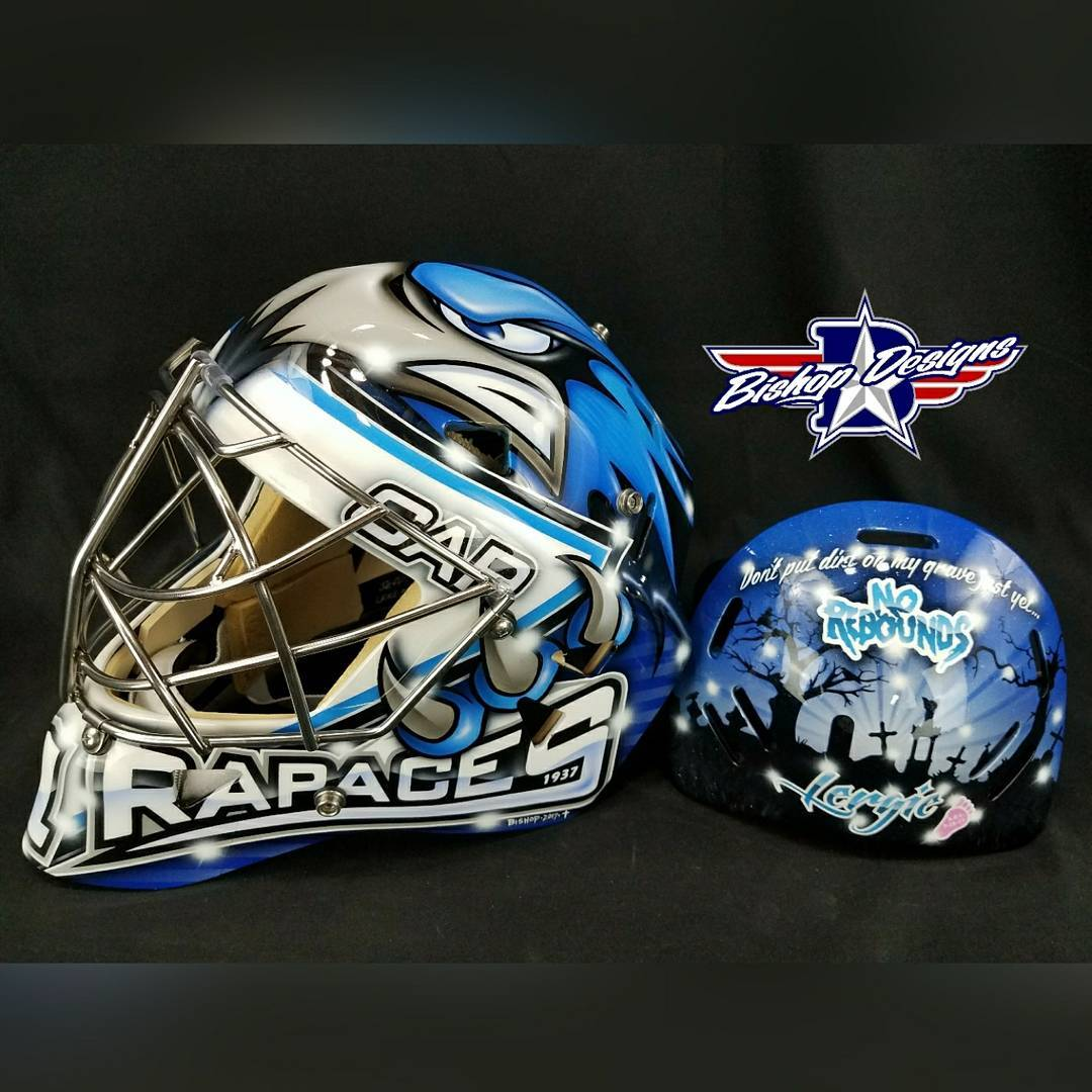 Jeff Lerg futureprogoalieschool rapacesgap05  custom paint by bishopdesigns Bishitup!hellip