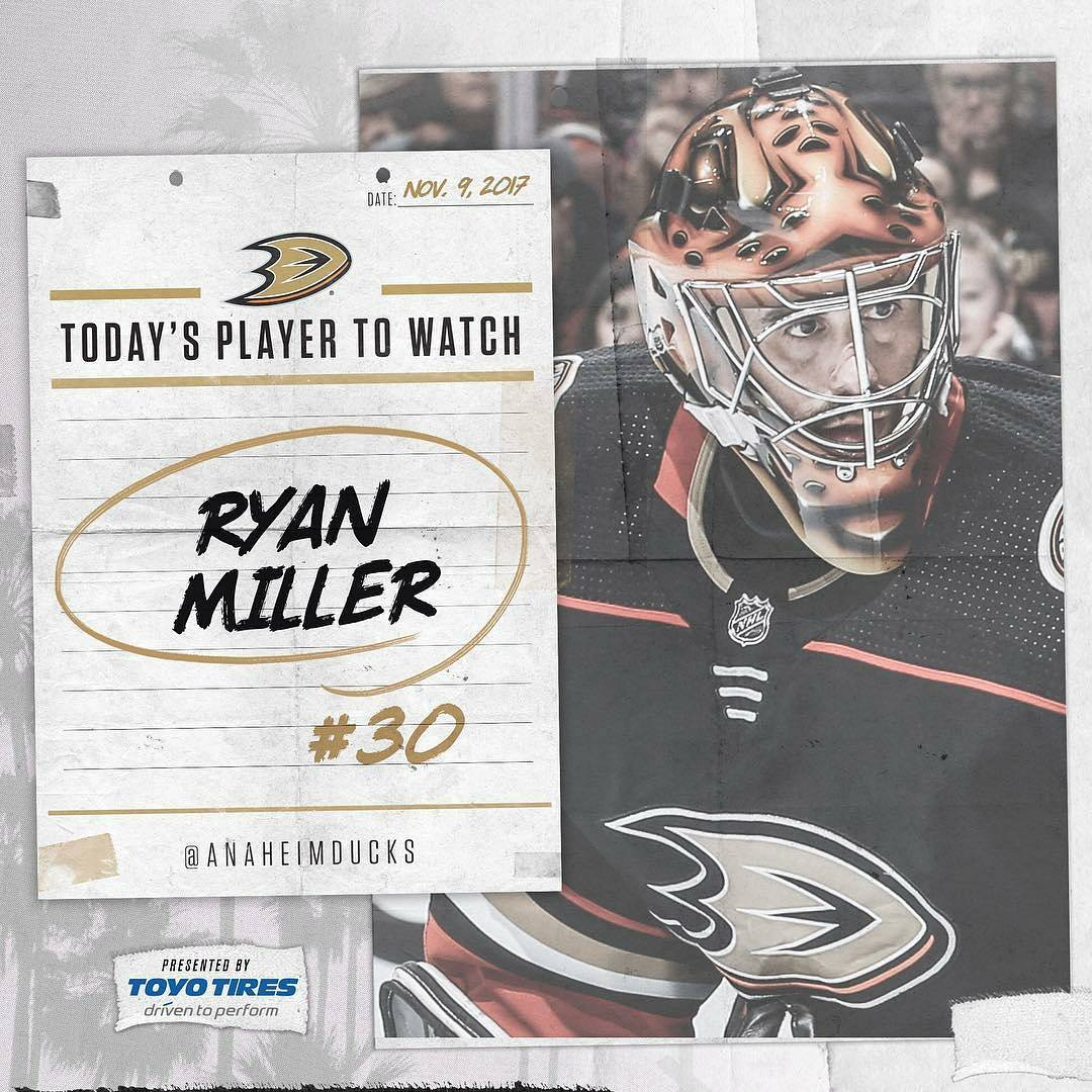 regrann from anaheimducks  Keep your on Ryan Miller tonight!hellip