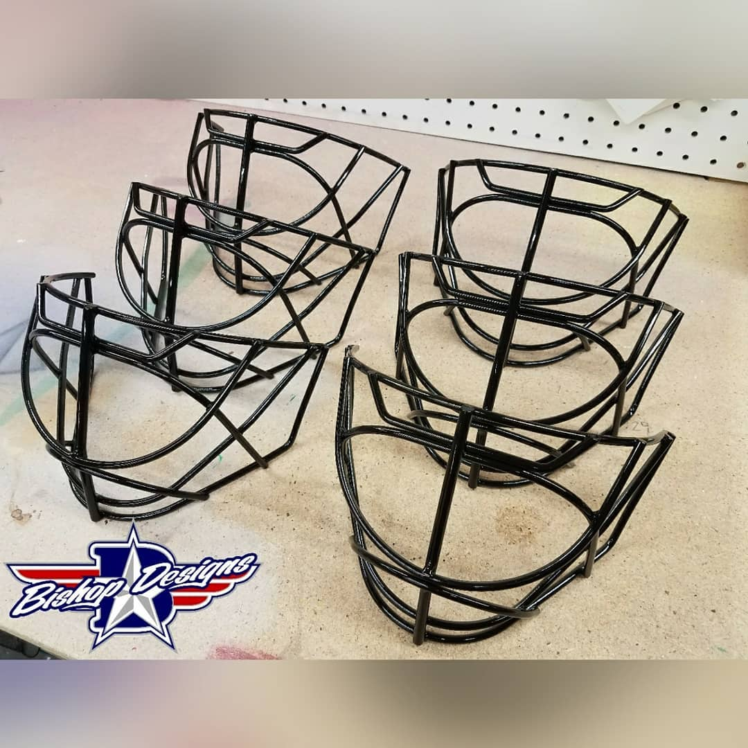 Some new cages for Ryan Miller anaheimducks Sandblasted painted blackhellip