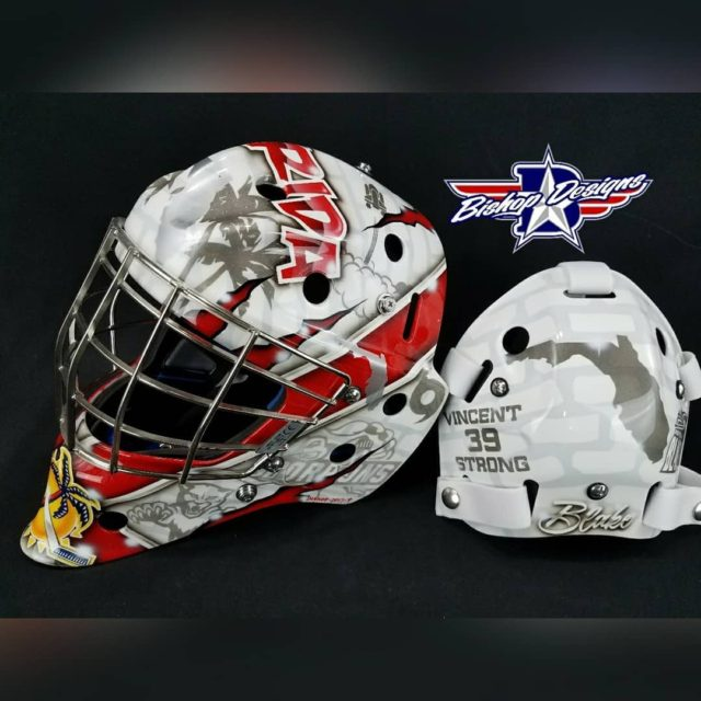 Showin a bit of Florida Love on this bauergoalie mask!hellip