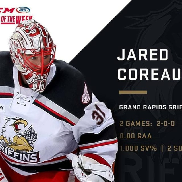 regrann from theahl  Two games Two shutouts Jared Coreauhellip